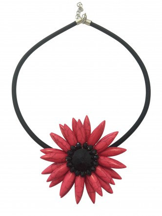 Flower Necklace Cerise