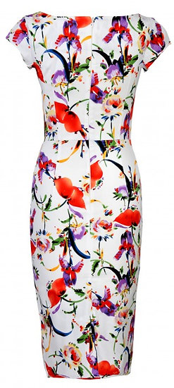 Adele Fitted Dress White