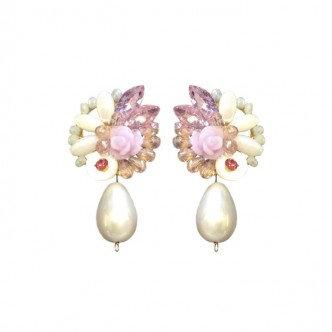 Pearl Drop Cluster Earring