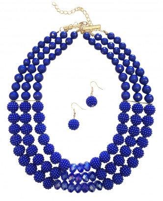 Poppy Necklace Set Blue