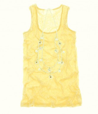 Scoop Neck Top Yellow