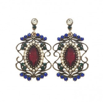 Grace Earrings Red/Blue