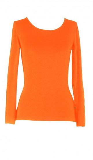 Core Long Sleeve Top Orange
