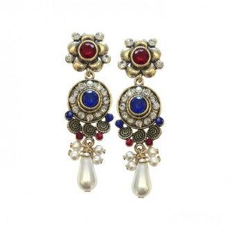 Royal Earrings Blue/Red