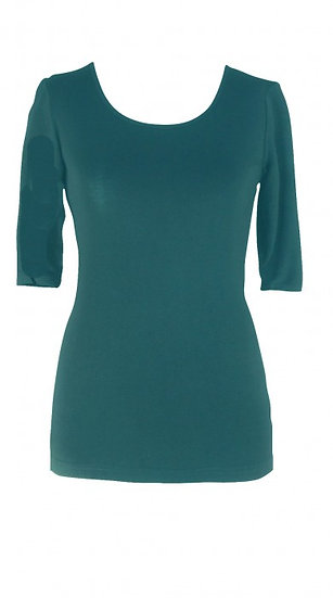 Core Elbow Top Teal