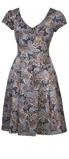 Nellie Pleat Dress Grey