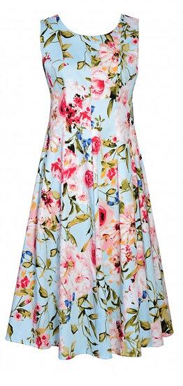 Ava Flute Dress Blue
