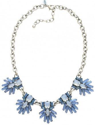 Iris Necklace Blue/Silver