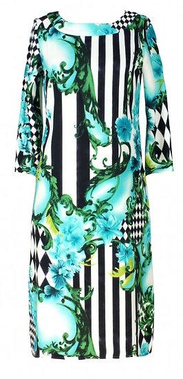 Medina Shift Dress Aqua