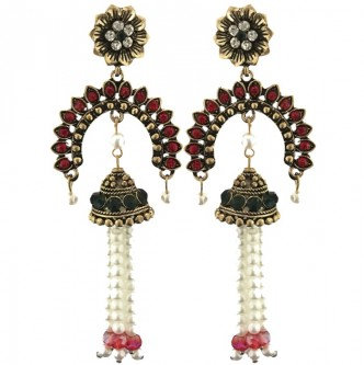 Consort Earrings Red