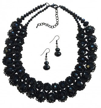 Emperor Necklace Set Black