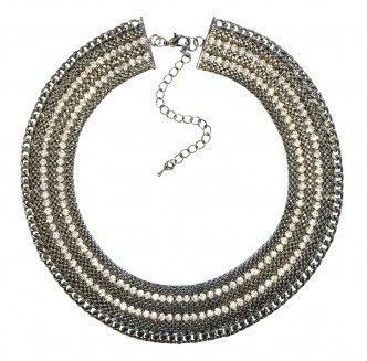 Rocker Necklace Black/Silver