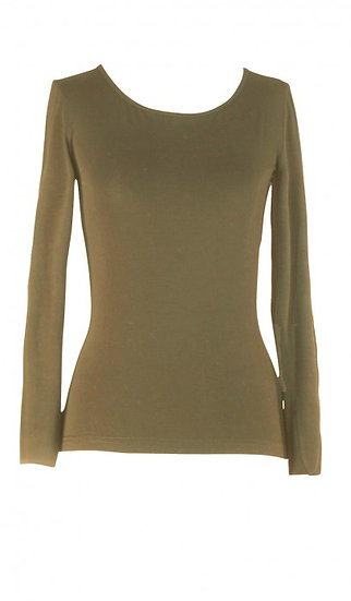 Core Long Sleeve Top Khaki