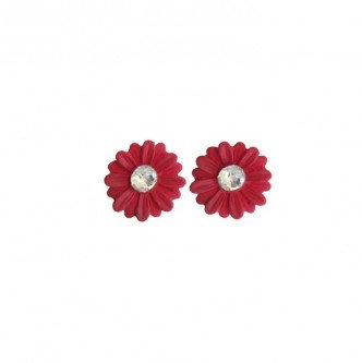 Daisy Earring Red