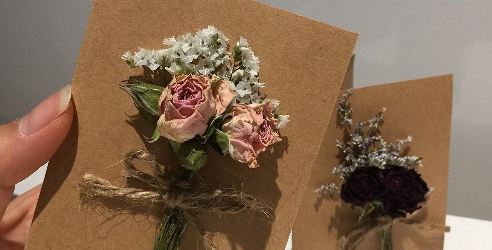 Mini Dried Flower Cards