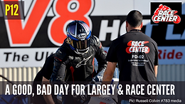 So, so start for Tim Large and Race Center