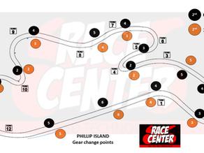 Phillip Island Gear Change Points