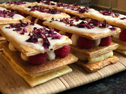 Rose and Raspberry Mille-Feuille
