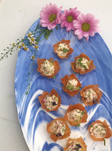 Crab Filo Cups with Coriander, Lime and Chilli