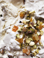 Ricotta Ice Cream with Candied Peel and Pistachios
