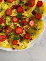 Pineapple Carpaccio with Mint Sugar and Lime Zest