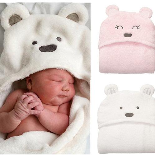 Fleece Bear Style Hooded Blanket