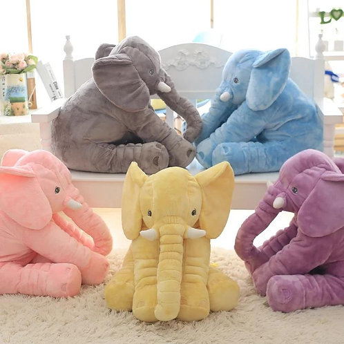 Baby Animal Elephant Plush Pillow 2 Sizes Available 35cm & 60cm. From