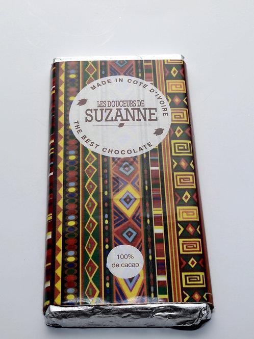 Tablette de 100g chocolat noir 100% cacao