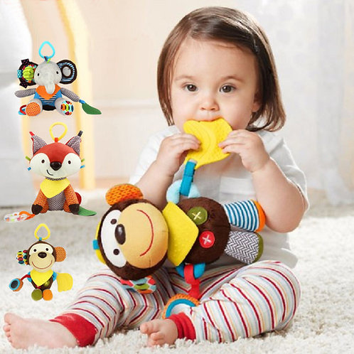 Animal Teether toy with tooth soothers, 0-3 Years