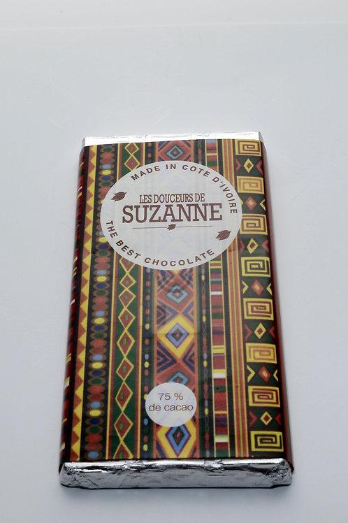 Tablette de 100g Chocolat noir 75% cacao