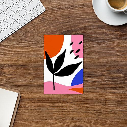 Abstract Leaf Postcard