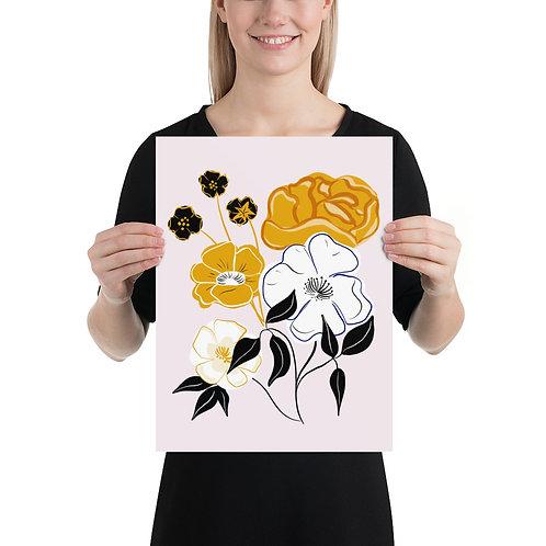 Delicate Modern Floral Art Print by Tara Reed
