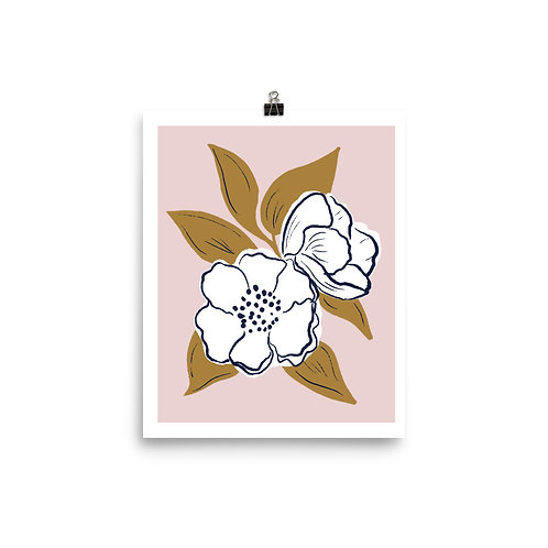 Pink and White Flowers Art Print by Tara Reed