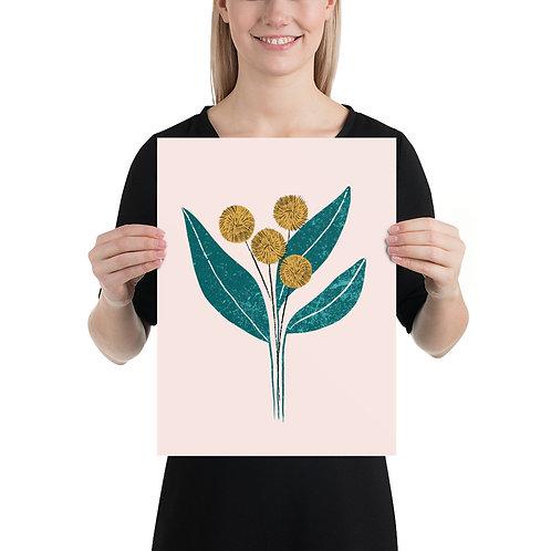 Simple Yellow Flower Art Print by Tara Reed