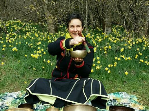 Les bols chantants en pleine nature, j'adore!