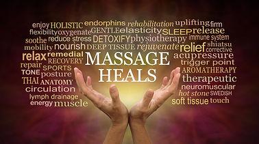 Massage heals word tag cloud - female ha