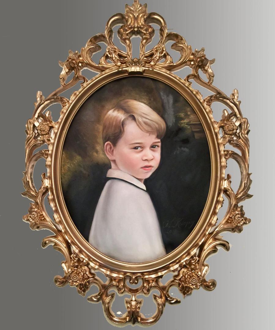 Portrait of Prince George (2019), oils on canvas, 60cm x 80cm