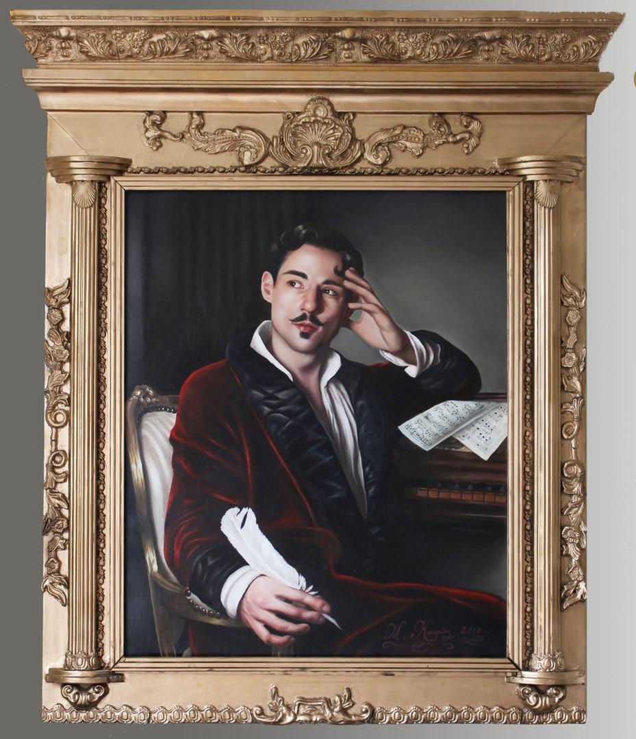 Self-portrait (2019) oils on canvas, 105cm x 90cm