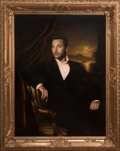 'A Portrait of Gino D'Acampo' (2019) oils on canvas, 95cm x 120cm