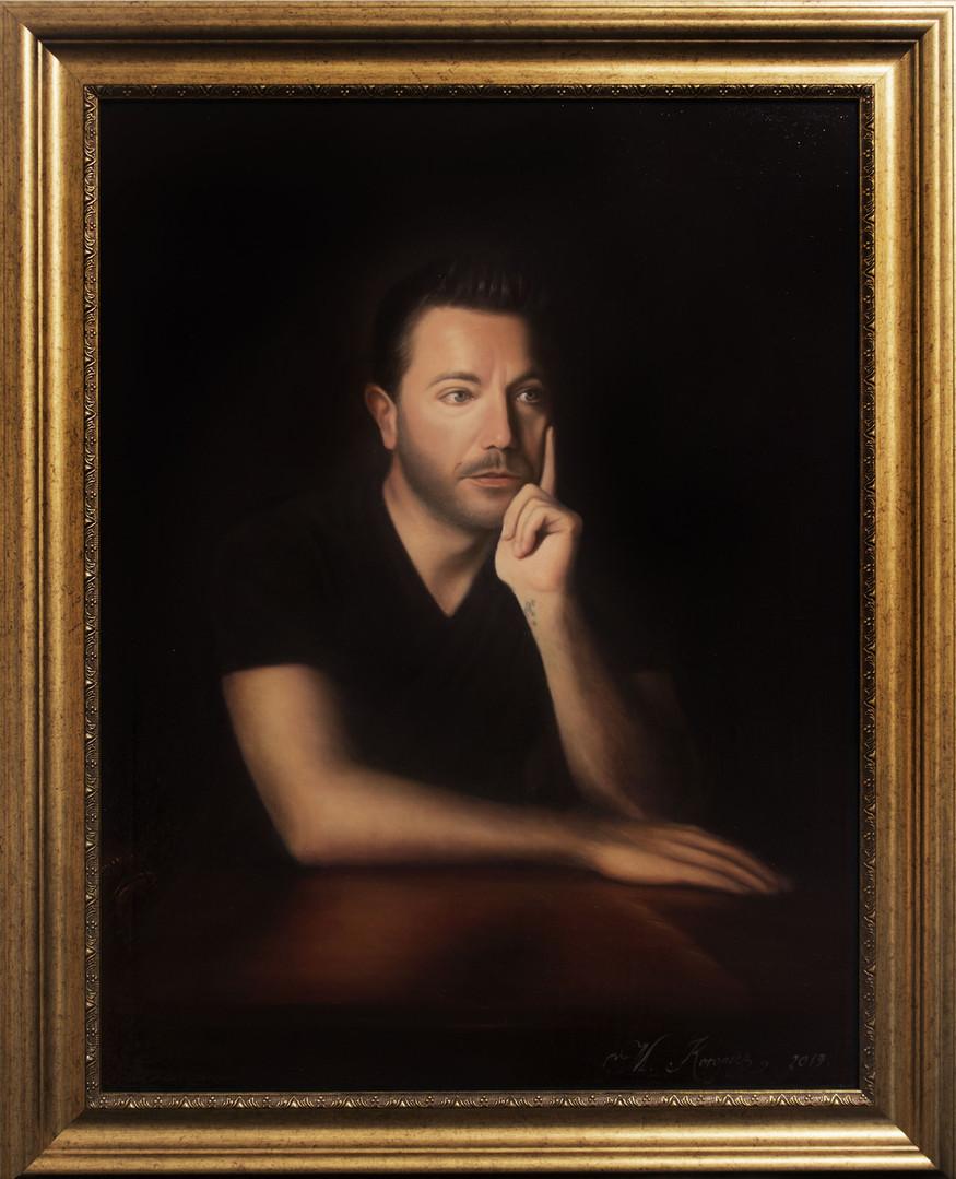 Gino D'Acampo (2019) oils on canvas, 60cm x 80cm, private commission