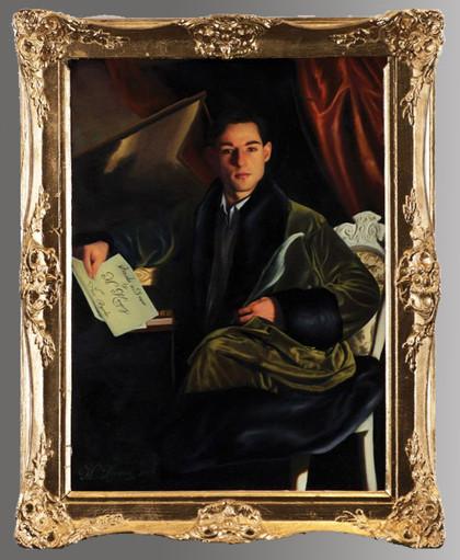 Self-portrait (2017), oils on canvas, 80cm x 105cm, sold