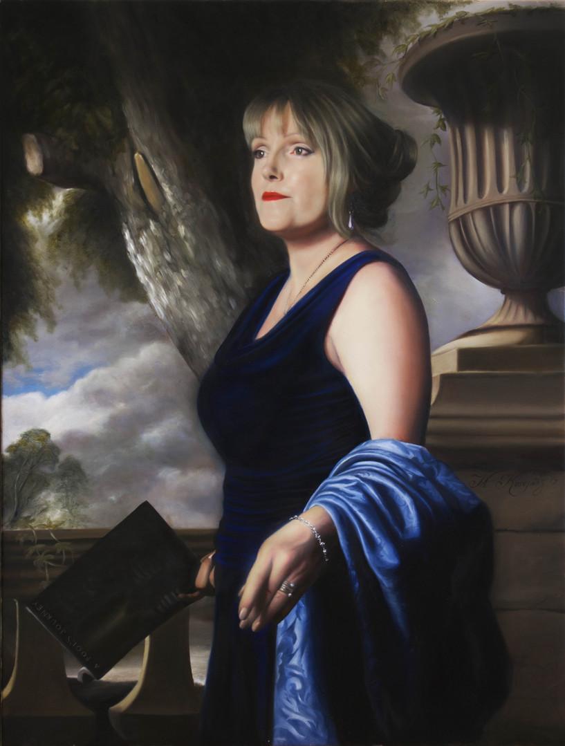 'Mrs. Julie Modla' (2019) oils on canvas, 75cm x 100cm