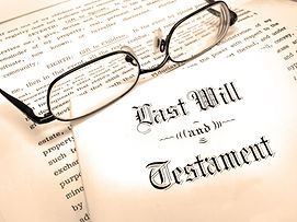 Glasses on last will and testament