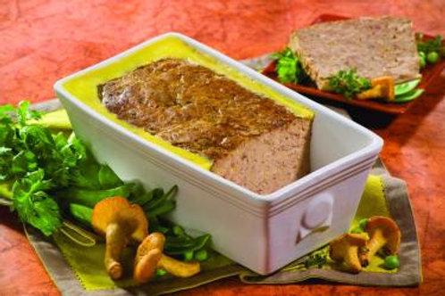 terrine au foie de canard et girolles et foie gras