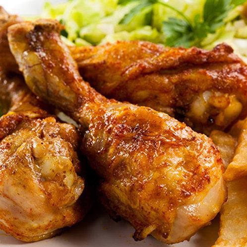 pilons de poulet cuits
