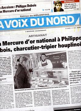 LA VOIX DU NORD charcuterie philippe et yvonne mercure d'or national