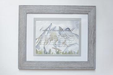 Custom Watercolor and Calligraphy Namesake
