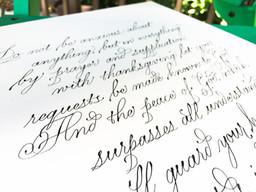 Italian Hand custom calligraphy Quote