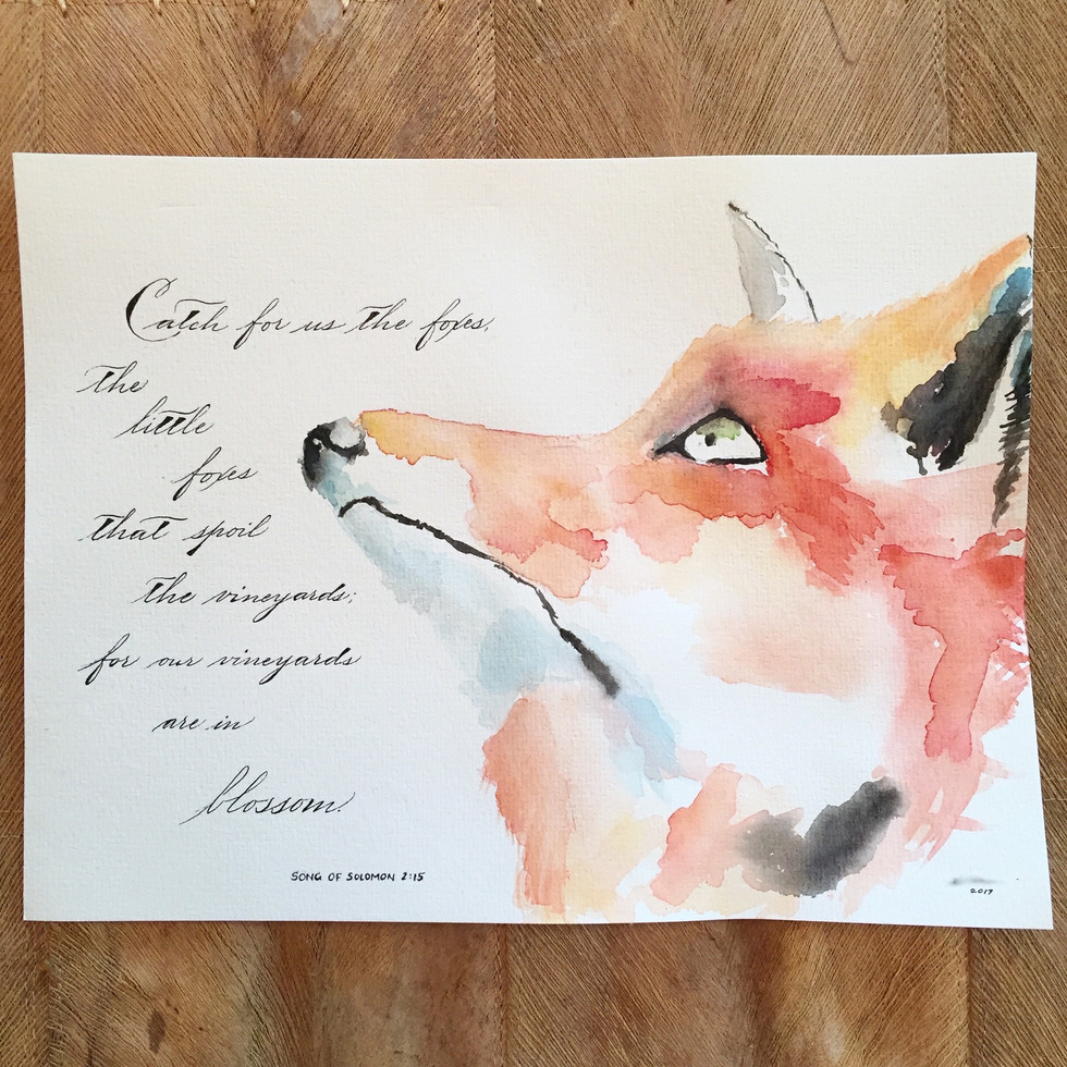 Custom watercolor and calligraphy Quote