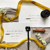 Calligraphy Wedding Envelope Addressing